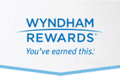 A banner displaying the words Wyndham Rewards, You've earned it